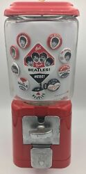 Beautiful Red Beatles Pinback Buttons Gumball Charm Machine Glass Globe Vintage