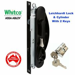 Whitco Leichhardt Sliding Security Screen Door Lock-w865317 With Cyl-free Post