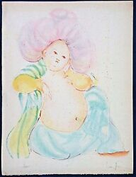 Leonor Fini Original Colored Lithograph Signed And Numbered 14/155