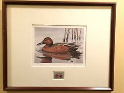 Ducks Unlimited 1985 Stamp Signed Numbered Print By G. Mobley Framed 834/18200