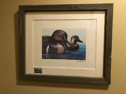 Ducks Unlimited 1978 Stamp Signed Numbered Print By Michaelsen Framed 5624/7000