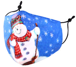 Fabulous Snowman Holiday Themed Protective Face Covering Mask For Kids $12.00