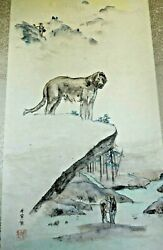 Debbi Chan Saccomanno Original Hand Painted Watercolor Scroll Willow And Dublin