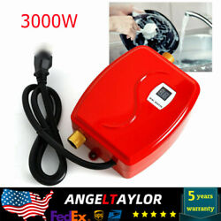 Mini Tankless Instant Electric Hot Water Heater Shower Red 110V 3000W US Stock $51.00