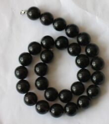 73.7gr Genuine Butterscotch Amber Beads Necklace Black Planet Red Cherry Fine