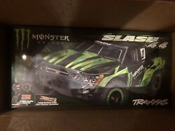 Traxxas Slash 4x4 Monster Energy Limited Edition Truck Rtr W Battery/charger New