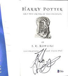 Daniel Radcliffe Signed Harry Potter And The Order Of The Phoenix Book Beckett 3