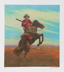 Rockwell Smith Donand039t Crowd Me Ii Lithograph Signed And Numbered In Pencil