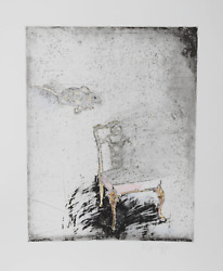 Donald Saff Mouse And Chair Color Aquatint Etching Signed And Numbered In P