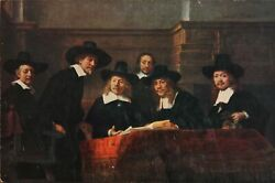 Rembrandt Van Rijn, The Masters Of The Cloth Gathering, Poster Mounted On Board