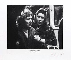 Les Levine, Bomb Victim In Belfast, Photo-etching, Signed And Numbered In Pencil