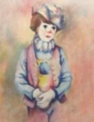 Philippe Alfieri Child Clown Lithograph Signed And Numbered In Pencil