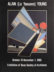 Alain Le Yaouanc Exhibition Of Texas Society Of Architects Lithograph Poster