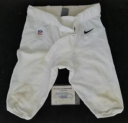 62 Drew Nowak Of Seahawks Vs. Packers Nfl Game Used Football Pants With Coa