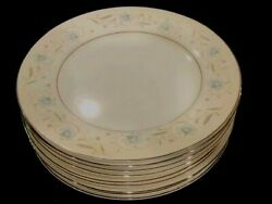 English Garden Japan Fine China 1221 Blue Floral Set Of 9 Dinner Plates 10 In