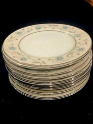 English Garden Japan Fine China 1221 Blue Floral Set Of 11 Bread Plates 6 1/2 In