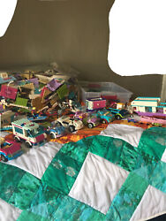 Lot Of Legos With People Buildings Vehicles And Animals