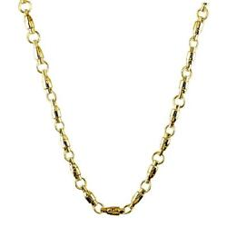 Special 4mm Size Fishing Swivel Chain In 14k Yellow Gold 26 Inches Long