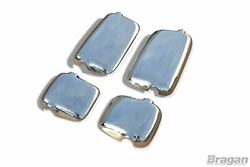 To Fit Man Tga Polished Stainless Steel Mirror Covers Truck 4 Piece Set