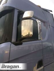 To Fit 2017+ New Generation Scania R And S Series Stainless Steel Mirror Covers