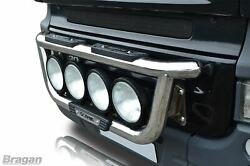 To Fit Scania 4 Series Steel Front Grill Light Bar A + 9 Spots + Step Pads