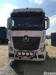To Fit Mercedes Actros Mp4 Stainless Steel Front Grill Bar A + Round Spot Lamps