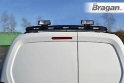 To Fit 02-14 Ford Transit Tourneo Connect Black Rear Roof Light Bar + Led + Spot