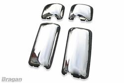 To Fit Pre 07 Daf Cf 65 75 85 Polished Steel Mirror Covers Truck 4 Piece Set