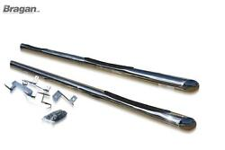 To Fit 2014+ Peugeot Boxer Swb Side Bars + Step Pad X3 Stainless Tube Skirts -3