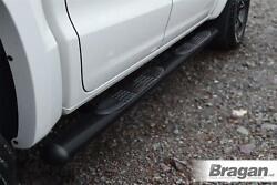 To Fit 2012 - 2016 Ford Ranger Side Bars Black Stainless Steel