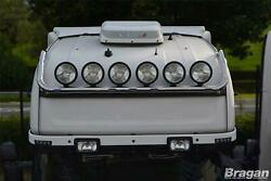 To Fit Mercedes Actros Mp5 19+ Classicspace Roof Bar + Round Black Spots + Leds