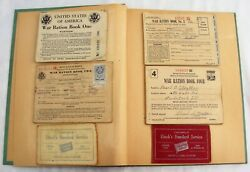 Wwii Scrap Book Full Of War Ration Books 900+ Stamps Ephemera And More Illinois