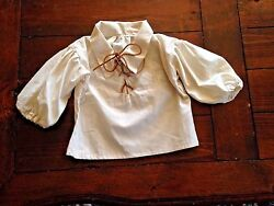 BOY#x27;S CHILD#x27;S PEASANT PIRATE SHIRT RENAISSANCE SCA PIRATE SIZE 2 3