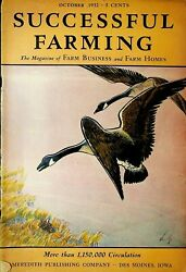 Successful Farming Magazine October 1932 Geese Cover Poultry Dairy Livestock