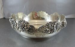 Big And Very Nice Dominick And Haff Sterling Nouveau Center Bowl 1898. 11 Across