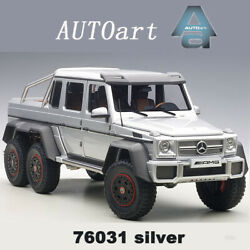 Autoart 118 Mercedes-benz Amg G63 6x6 Suv Pick Up Diecast Car Model Collection