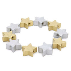 Wooden Star Shaped Spacer Wood Beads Diy Accessories Kids Toys Craft N3