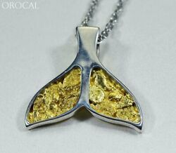 Gold Nugget Pendant Whales Tail - Sterling Silver - Special Pwt35nssx - Hand Mad