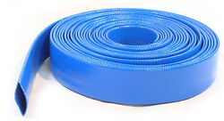 100ft 30metres Layflat Water Delivery Hose Discharge Pipe Pump Irrigation Blue
