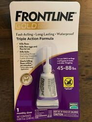 Frontline Gold for Dogs 45 88lbs lbs flea amp; tick treatment 3 Single Dose $18.00