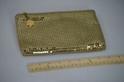 Vintage La Regale Gold Chainmail Clutch Purse Evening Bag Gold Chic $16.97