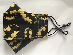 Homemade Batman Badges 100% Cotton Fabric Face Mask For Adult FREE SHIPPING