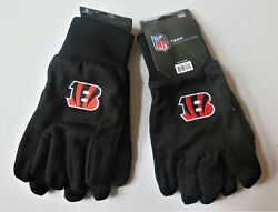 Two Pair Of Cincinnati Bengals Sport Utility Gloves From Forever Collectables