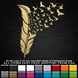 Feathers Birds Flying Native American Indian Spirit Sticker Decal