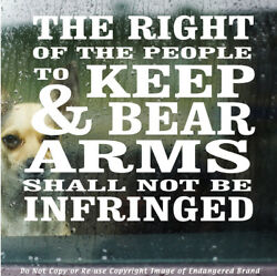 2nd Amendment The Right Shall Not Be Infringe 1789 Truck Car Decal Sticker