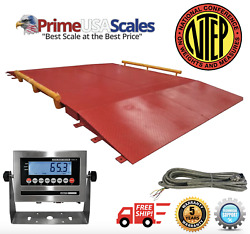 Prime Usa Op-934 10and039 X 10and039 Ntep Axle Truck Cargo Scale 60000 Lb Cap.
