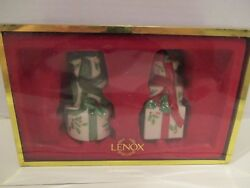 Lenox Christmas Holiday Wrapped Gifts Salt And Pepper Shakers Nib