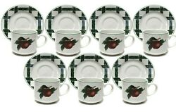 The Cades Clove Collection By Citation Cups And Saucers Set Of 7