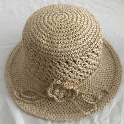 Women's Summer Beach Straw Hat Floral Head Band One Size Fit All $8.99