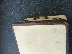 Antique Insured Trunks Indestructo Luggage Carry On 18x11x17 No Key